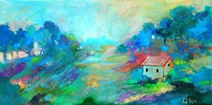 Quiet Life (Kerri Blackman) Tags: landscapepainting abstract countryscene scenery countryside colorful meadow rural