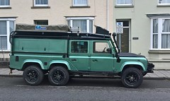 Land Rover + (Andrew 2.8i) Tags: welsh wales uk united kingdom carspotting spotting street car cars streetspotting classic classics spot road 6x6 6wd overlanding offroad adventure custom modified 110 voyager rover grand land