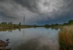 """ NEW "" (Wiffsmiff23) Tags: breconbeaconsnationalpark reflections reflection lake dramatic drama southwales windfarm windturbine epic hike trek tree brecon breconbeacons"