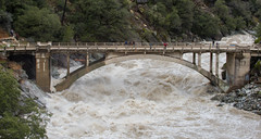 Old Route 49 bridge crossing over the South Yuba River in Nevada City (water.alternatives) Tags: dwr storm flood floodwatch floodwarning highwater atmosphericriver wet water river rapids north featherriver california usa ca