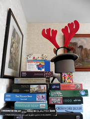 Stacked (amy's antics) Tags: wah wearehere piled jigsaws antlers topper boxes pictures heap stack