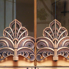 deco duo (msdonnalee) Tags: deco architecturaldetail window