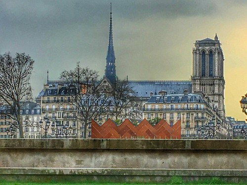 Paris   France  ~  Notre-Dame Cathedral  ~ Cathédrale Notre-Dame de Paris ~ Pinacle - Spiral Spire - Lost Paris