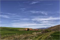 Campos de Soria (Fernando Forniés Gracia) Tags: españa castillayleón soria peñalcázar campo naturaleza cielo nubes cabañas paisaje landscape