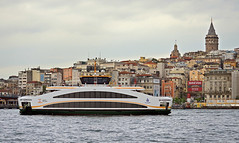 (foto.pooyan) Tags: turkey istanbul landscape buildings tower sea cruiser cloudy
