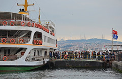 (foto.pooyan) Tags: turkey istanbul streetphotography people ship cruiser cloudy