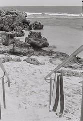 Beach 2 (adam_h_photo) Tags: halfframe olympuspenft monochrome film filmphotography 35mm analogue analog photofilmy ishootfilm istillshootfilm blackandwhite beach