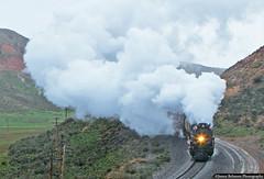 Hot & Steamy on a Cold Wet Morning (jamesbelmont) Tags: unionpacific bigboy 4884 steam castlerock utah echocanyon railroad railway train locomotive evanstonsubdivision