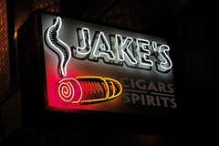 Jake's Cigars & Spirits, Omaha, NE (Robby Virus) Tags: omaha nebraska ne jakes cigars spirits store booze alcohol neon sign signsge stogie benson