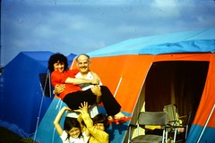 513_RubyHarryDebKeithAug1972 (wrightfamilyarchive) Tags: ruby holiday harry debbie andy wright camping tent south coast england uk august 1972 1970s 70s seventies campsite