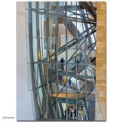Hinter Gittern ... (dolorix) Tags: dolorix spanien spain bilbao museum guggenheim treppe stairs architektur architecture frankogehry architekt