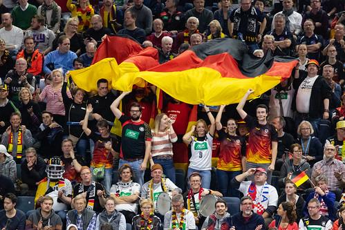 Deutsche Fans sorgen für Stimmung Köln Arena Handball WM 2019