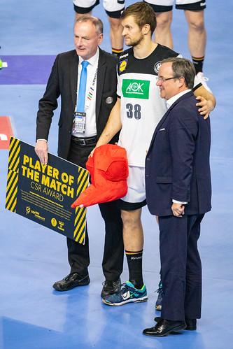 FABIAN BÖHM Player of the Match Team Germany Handball World Championship 2019 Cologne
