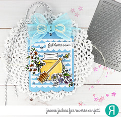 Honey Tag (akeptlife) Tags: reverseconfetti happybeeday honey stamping stamp papercrafting bearhugs giftcardholder tag scallopstripepanel