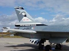 F-16A J-063 spc RNethAF 322Sqn 030824 Eggebek (tail) (Nikon Photographer NL) Tags: rnethafnavy military dutch nederlands aviation