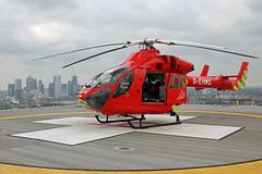 London's Air Ambulance at the Royal London Hospital (kertappa) Tags: img1833 air ambulance londons london hems doctor paramedics hospital glndn emergency helicopter kertappa royal whitechapel