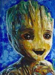 Baby Groot (the Guardians of the galaxy) (Stéphane-Hervé's Art) Tags: groot guardian galaxy gardien galaxie gardiensdelagalaxie guardiansofthegalaxy marvel stanlee comics bandedessinée tebeo babygroot jesappellegroot iamgroot oil huile öl óleo oilpainting ölgemälde peintureàlhuile pinturaalóleo canvas toile linen tela portrait porträt retrato cara face visage kopf head tête cabeza scifi sciencefiction art kunst arte artwork kunstwerk oeuvredart obradearte modern moderno moderne modernart artmoderne artemoderno artcontemporain contemporaryart artecontemporaneo portraitmoderne modernportrait retratomoderno malerei realism réalisme realismo realismus hero héro superhero superhéro
