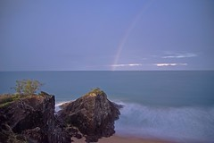 Agnes Moon Rainbow (Leo(Blue)Mayer) Tags: rainbow long exposure headland water sea ocean morning