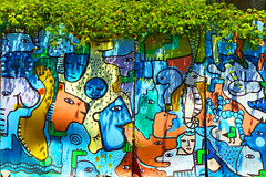 citty grafitty art in funchal (Marco Braun) Tags: walart graffiti stencil streetart black white weiss blanche noire schwarz schablone 2018 colourful colored couleures farbig bunt madeira portugal tiere animals animaux amsterdam holandniederlande
