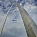 An Arch Seemingly Soaring into the Skies Above (Gateway Arch National Park)