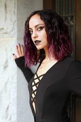img_4196 (steevithak) Tags: cemetery modeling model blackdress purplehair blacklips darkbeauty graveyard greenwoodcemetery dallas texas tx