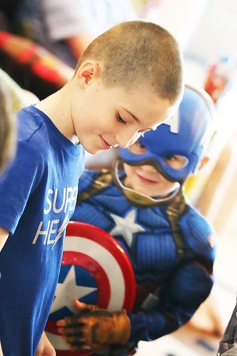 Happy Birthday, Little Man! The Captain America suit looks good on you! (Photo by my Mom)