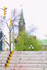Ottawa (Tracy Christina) Tags: stairs parliament trafficlights ottawa ontario
