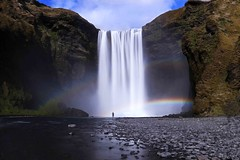 Skogafoss (Dan H Boyle Photography) Tags: iceland skogafoss waterfall travel travelphotos travelphotography dslr canon 700d water river rainbow isolated peaceful icelandic nature canon700d