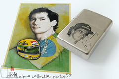 1993-12 L-IX Ayrton Senna - unique copy of this lighter, engraved, painted, plated with white gold (private collection) 03 (Pastis57) Tags: collection zippo pastis57 pastis pascal tissier lighter accendino feuerzeug mechero briquet zippoライター cigarette 打火机 upaljač 打火機 легче ljusare tändare 1993 ayrton senna formule 1 f1 grand prix brazil brésil