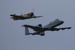 A-10 & P-40 (siamesepuppy) Tags: hanger24brewery redlands california may18th2019 aeroplane airplane plane airshow ccattributionlicense creativecommons cclicense redlandsmunicipalairport