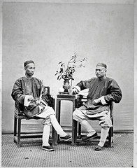 Hotz collection: Two Friends, ca. 1870 (Charles in Shanghai) Tags: charles shanghai albert hotz albertus paulus hermanus holland china trading company handelscompagnie rotterdam universiteit leiden university bibliotheek bijzondere collecties special collections early photography libslibs librariesandlibrarians hchc haagsche courant nrc delphernl perzië john thomson london mattie boom rijksmuseum everyoneaphotographer exhibition gwulo bw blackandwhite monochrome chinese hong kong hongkong happy planet asia favorites two friends happyplanet asiafavorites