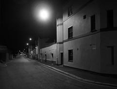 untitled (chrisinplymouth) Tags: street lane night perspective diagx plymouth devon england uk city cw69x monochrome xg diagonal plain