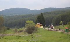 Station in het dal (Maurits van den Toorn) Tags: trein train station gare bahnhof bulgarien bulgaria schmalspur smalspoor narrowgauge rhodope mountains valley tal bdz dieselloc dieselengine