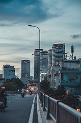 DSC_0911 (Phu Stark) Tags: apartment sunset skyline saigon hochiminh city nikon landscape curve bridge light street