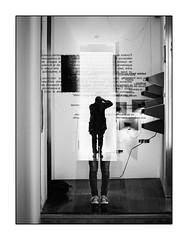 Reflet de  l'Autre. (francis_bellin) Tags: olympus espagne streetphoto street homme netb photoderue grenade bw exposition joséguerrero noiretblanc centrejoséguerrero blackandwhite reflet femme monochrome rue peintre musée 2019 andalousie ville