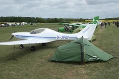 G-JFDI (IndiaEcho) Tags: gjfdi dynamic wt9 eghp popham airport airfield light general civil aircraft aeroplane aviation basingstoke hampshire england canon eos 1000d microlight fly in