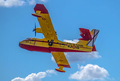 Canadair CL-215T UD.13-15 (Miguel Angel Prieto Ciudad) Tags: canadair seaplane aircraft spain red yellow flying firefighter propeller fire airshow spanishairforce sonyalpha alpha3000 mirrorless emount corsarios botijo