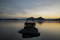 Calm Waters (panos_adgr) Tags: nikon d850 lake ireon loutraki korinthia greece travel long exposure evening clouds sky water mountains dock horizon