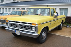 Ford F250 (Monde-Auto Passion Photos) Tags: voiture vehicule auto automobile ford f250 pickup jaune yellow ancienne classique rare rareté collection rassemblement france courtenay