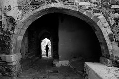 (cherco) Tags: woman walk alone architecture arquitectura aloner arch arco exit composition composicion canon city ciudad greece naxos street solitario solitary silhouette silueta shadow sombra solo shadows stairs adoquinado lonely light luz blackandwhite bridge archs frame calle chica canoneos5diii