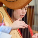 sophia playing the harp on december 17 2017 - ver 2