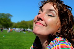 Beautiful and High 12 (Abbie Stoner) Tags: girl woman kite portrait redhead park outside