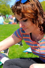 Beautiful and High 17 (Abbie Stoner) Tags: girl woman kite portrait redhead park outside