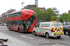 IMG_1148-060519 (andrewcolebourne) Tags: london londonbus transportforlondon metroline lt13 ltz1013 ht hollowaygarage route24 wright newroutemaster sovereign recovery sv307 gc18lju volkswagen transporter t32 van