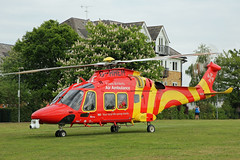 Essex & Herts Air Ambulance in St Albans (kertappa) Tags: img2087 air ambulance herts hertfordshire essex hems doctor paramedics hospital ghhem emergency helicopter cunningham hill green space park st albans