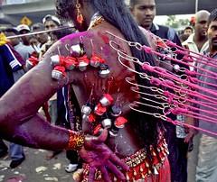 MALAYSIA43 (Glenn Losack M.D.) Tags: self piercing malaysia kuala thaipusam lumpur mutilation selfmutilation streetphotographer hinduholiday bodyimpalingritual glosack