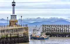 """""""Gone Fishing"""" (Pensioner Percy, very slow at the moment) Tags: maryport cumbria d7200 fishingboat solway sea mt49 18140mm nikon fish harbor lighthouse scotland happysailingsunday boat"""