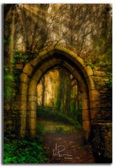 ''St Andrews Gate'' (marcbryans) Tags: portlanddorset uk outdoors path architecture stone dwellings graveyard historicbuilding historic monument church gate nikond7100 nikkor1755mmf28