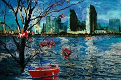 DorianaSinnett_Red Boat_9000x6000 (atelierimagery) Tags: architecture building ocean digitalart harbor photoshop