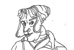 2018.01.16 Day 4, Pen on Paper (Julia L. Kay) Tags: juliakay julialkay julia kay artist artista artiste künstler art kunst peinture dessin arte woman female sanfrancisco san francisco sketch dibujo selfportrait autoretrato daily everyday 365 self portrait portraiture face dpp dailyportraitproject pen paper ink monochrome sharpie